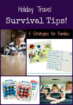 """5 """"Holiday Travel"""" activities for families Road Trip With Kids, Travel With Kids, Family Travel, Family Trips, Travel Bingo, Car Travel, Travel Tips, Travel Stuff, Holiday Travel"""