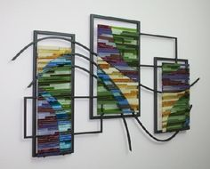 Fused glass wall sculpture  http://www.mnartists.org/work.do?rid=225332