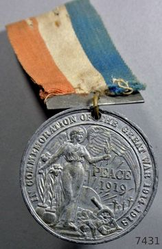 WWI Commemorative Medal County borough of Derby 1919 sherwood foresters…