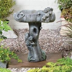 Wildlife Bird Bath. Kelkay Bird Baths and Statues are suitable for all garden birds. It's made from durable resin stone and is hand finished to give it an authentic appearance. It would make a lovely gift for a family member or friend. Designed exclusively by Kelkay. #wildlife #birdbath