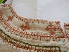 Voice Painter - new kirtle - neckline embroidery