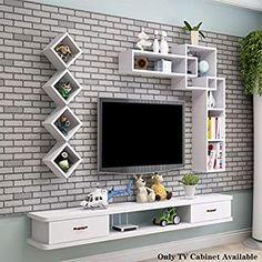 Tv Cabinet Design Modern, Modern Tv Unit Designs, Living Room Tv Unit Designs, Tv Wall Design, Tv Cabinet Wall Design, Bedroom Tv Unit Design, Bed Design, Modern Design, Modern Tv Room