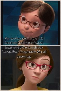 Margo from despicable me conspiracy theories mind blown, conspericy theories, disney conspiracy theories, Humor Disney, Funny Disney Jokes, Stupid Funny Memes, Disney Quotes, Funny Relatable Memes, Hilarious, Funny Facts, Funny Quotes, Disney And Dreamworks