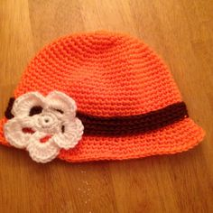 Crochet Cloche Cleveland Browns by CogarCrochet on Etsy