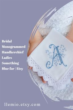 Personalized Monogrammed handkerchief. Great idea for Bridal Party gifts & Bridal shower favoursSIZE • 14.5 x 14.5– 37 cm x 37 cmMATERIALS • Cotton – BatistaEMBROIDERED monogramPossible variations in the color combination. Wedding Gifts For Parents, Best Wedding Gifts, Wedding Day, Bridal Shower Favours, Wedding Handkerchief, Something Blue, Maid Of Honor, Party Gifts, Mother Of The Bride