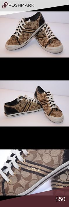 Coach Sneakers Gently used Coach Sneakers in wonderful condition, size 9 1/2 Coach Shoes