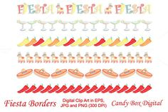 Check out Fiesta Borders by Candy Box Digital at Creative Market. Fun mexican-style borders for scrapbooks, blogs, web design and paper crafts.