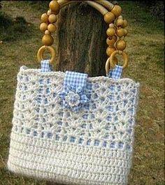 CROCHE COM RECEITA: bolsas