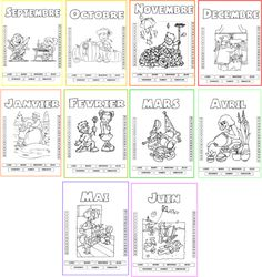 The cards of the month - Back To School Back To School Organization, Classroom Organization, Teaching Kids, Kids Learning, Back To School Highschool, Body Preschool, Back To School Bulletin Boards, French Education, Grande Section