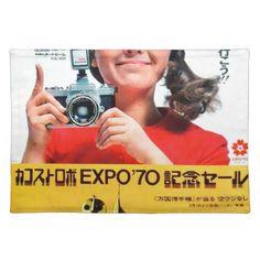Japanese Kodak Camera Poster Advertisement Placemat - vintage gifts retro ideas cyo Placemat Diy, Kodak