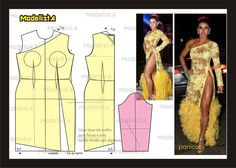 ModelistA added a new photo. Easy Sewing Patterns, Coat Patterns, Clothing Patterns, Evening Dress Patterns, Underwear Pattern, Modelista, Dress Tutorials, Pattern Cutting, Diy Dress
