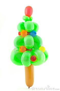 Twisted Balloon Christmas Tree by Nikita Rogul, via Dreamstime