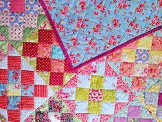 Cape Pincushion: Tutti-Frutti Baby (Granny Square) Quilt finished