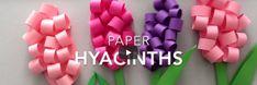 Papieren hyacinten maken - bloemen knutselen voorjaar / moederdag