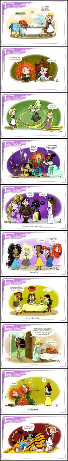 Pocket Princesses (Part 6) by Amy Mebberson - I am in love with the Pocket Princesses! I always laugh at their antics and would love to read more! by susangir