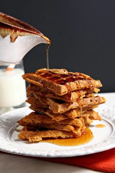 Fluffy pumpkin waffles are the perfect breakfast treat for fall. Topped with a stellar cinnamon maple syrup, these Pumpkin Waffles with Cinnamon Maple Syrup are sure to be a family favorite.   This post contains affiliate links. If you were to make a purchase through one, I would receive a small commission. For more information … Pumpkin Breakfast, Pumpkin Waffles, Fall Breakfast, Baked Pumpkin, Pumpkin Recipes, Perfect Breakfast, Breakfast Bars, Health Breakfast, Pumpkin Puree