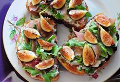 Fig Bruschetta- No recipe here but I'm guessing it's a combo of figs (blow torch them), arugula, prosciutto, melted bleu, and toasted french bread