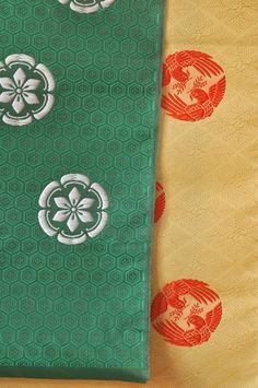 A closeup of Heian textiles: Japanese textile exhibit, Textile Museum in Washington, DC