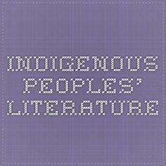 Indigenous Peoples' Literature