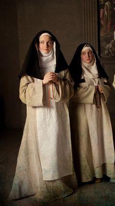 Lady Elizabeth of Staynton, the Prioress of Kirklees Catholic Art, Catholic Saints, Roman Catholic, Monk Costume, The Nun's Story, Nuns Habits, Religion, Bride Of Christ, Medieval Costume