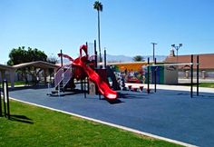 Here is another No Fault Safety Surface installation for a school in the great State of CA!!  Blue is a very popular color these days for playground surfacing!