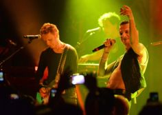 Martin Gore and Dave Gahan of Depeche Mode performing in West Hollywood. Picture: Getty