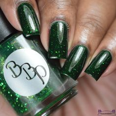 Bad Bitch Polish Emerald Isle by Glamorousnail from Nail Art Gallery Spirit Finger, Holographic Glitter, Emerald Isle, Square Nails, Nail Art Galleries, Cool Nail Designs, Nails Magazine, Natural Nails, Nails Inspiration