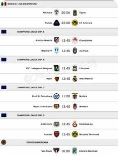 Hoy: #ChampionsLeague #LigaMX #CopaSudamericana #LaLiguillaTD #FoxSports