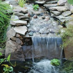 Pond waterfall #pond #waterfall #waterfeature