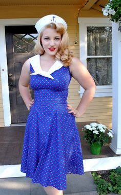 Sailor Dress 4th of July pinup rockabilly retro by AvaAdorableBaby, $90.00