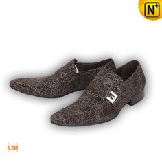 Designer Men's Shoes 2012 / 2013 Men's Sliver Hardware Leather Loafers Shoes Brown CW769241