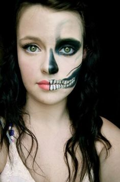 AMBER- I LOVE THIS ONE!!!! halloween-face-paint-skeleton | Hair ...