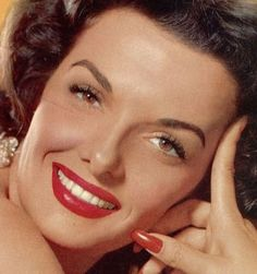 """Jane Russell was one of the leading ladies of the 40s and 50s. Russell, the brunette star of """"Gentlemen Prefer Blondes"""", was a true sex symbol and quite controversial for her time.    A staunch Christian she once again caused controversy at age 60 when she was the model for an ad campaign for a brand of bras for """"full figured"""" women. She was famously quoted as saying """"Christian women have bosoms as well"""".    Russell died 01 March at age 89 from respiratory failure."""
