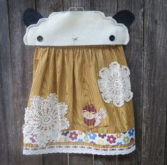 Tweet Heart Skirt by FreckledChicken on Etsy, $36.00