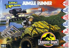 The Jungle Runner is a buggy-type vehicle part of the Jurassic Park series 2 Dino Trackers toy line. It came in a small box with a typical awesome piece of art on the cover.