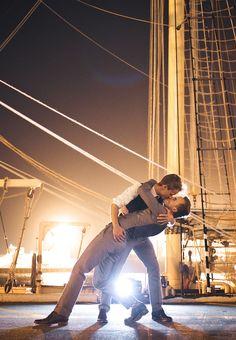 Evan & Trent's Warehouse Wedding at Fremantle Docks | Photography by Jarrad Seng #hollywoodkiss