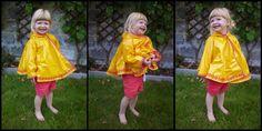 DIY regenjasje/poncho voor mijn kleinste duiveltje
