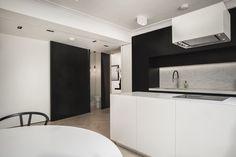 "Collaboration With Real Estate Development Company ""Withergo"", #London   Christos Tsigaras #kitchen #black #white"