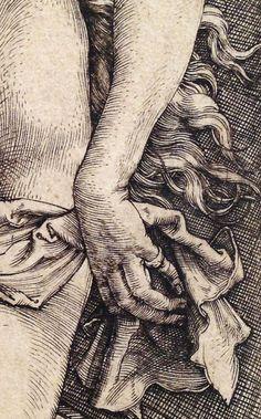 Albrecht Dürer ~ The Temptation of the Idler (The Dream of the Doctor) (detail), c.1498