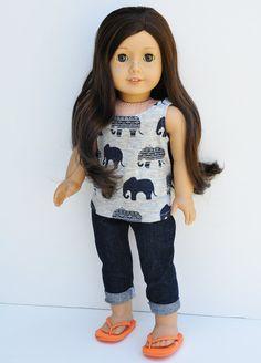 American Girl Doll Clothes Scoop Grey by LoriLizGirlsandDolls