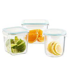 Glasslock Slimline Food Storage with Lids