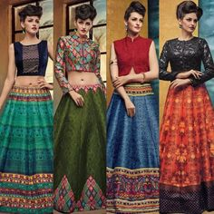 Checkout on Roposo.com - Buy New Designer Lehenga with best price only @kaavifab