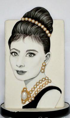 Audrey Hepburn Portrait CAKE