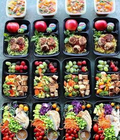 """2,298 Likes, 44 Comments -  Meal Prep On Fleek (@mealpreponfleek) on Instagram: """"Meal prep goals that are FULL OF COLORvia @mistyyoon -- Tell us what you are #mealprepping…"""""""