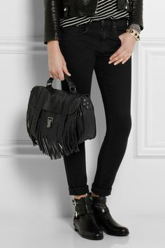 Proenza Schouler PS1 fringed shoulder bag