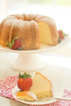 Cream Cheese Pound Cake | browneyedbaker.com #recipe