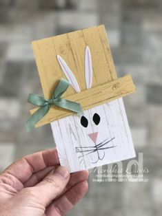 Easter Bunny Pallet card - Basket Bunch stamp set and Basket Builder Framelit Dies #stampinup #stampingatmonikas #BasketBunch #cardmaking
