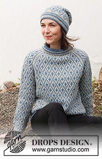 Como tricotar um pulôver de cima para baixo ou em top down (Tutorial Video) Tejido Fair Isle, Punto Fair Isle, Fair Isle Knitting Patterns, Sweater Knitting Patterns, Free Knitting, Drops Patterns, Drops Design, Pulls, Knitting Projects