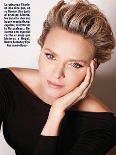 Her Serene Highness Princess Charlene on Monaco in Hola! Magazine April 2014