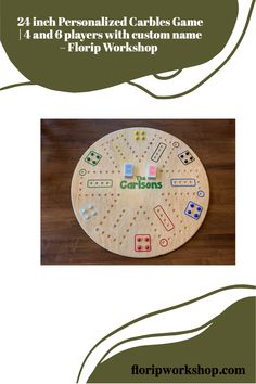 Looking for a new family game for game night? Try Carbles! This great, kid-friendly game also goes by Wahoo or Aggravation. This double-sided (4 and 6 players), handcrafted Carbles Game is made from 24 x 24 Maple plywood, and is precision shaped in either an octagon or circle. The start, home, and goals are all outlined in colored epoxy resin for a very professional look. It also includes natural stain and water-based polyurethane to ensure this family game is protected for many years of… Colored Epoxy, Game 4, Children Toys, Family Games, Game Night, Resin, Workshop, Goals